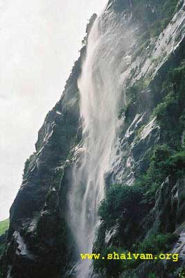 Wafer thin falls - like the mind of shiva sharaNas, kailash mansarovar yatra